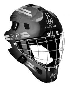 Unihoc Goaliemaske ALPHA 44 schwarz/silber - unihockeycenter.ch