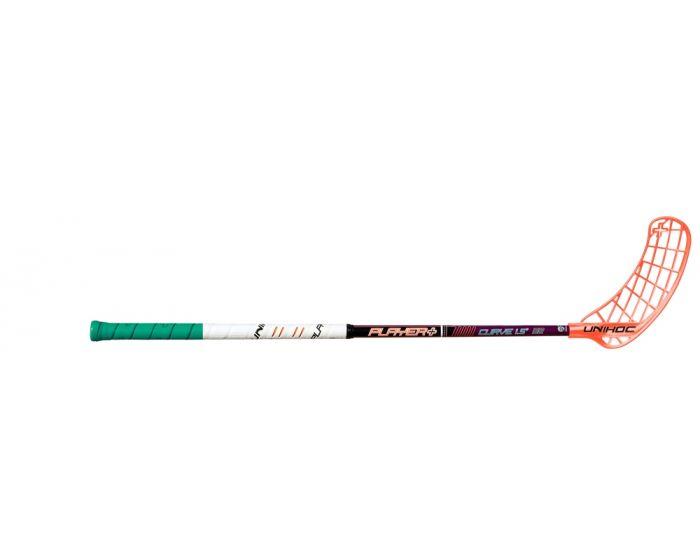Unihoc PLAYER+ Curve 1.5º 32 purple - unihockeycenter.ch