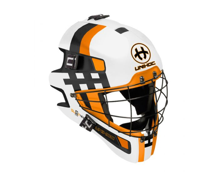 Maske Unihoc Summit 44 weiss/orange