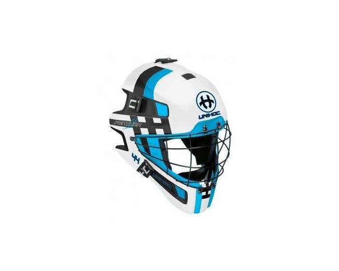 Unihoc Goaliemaske Feather 44 blau