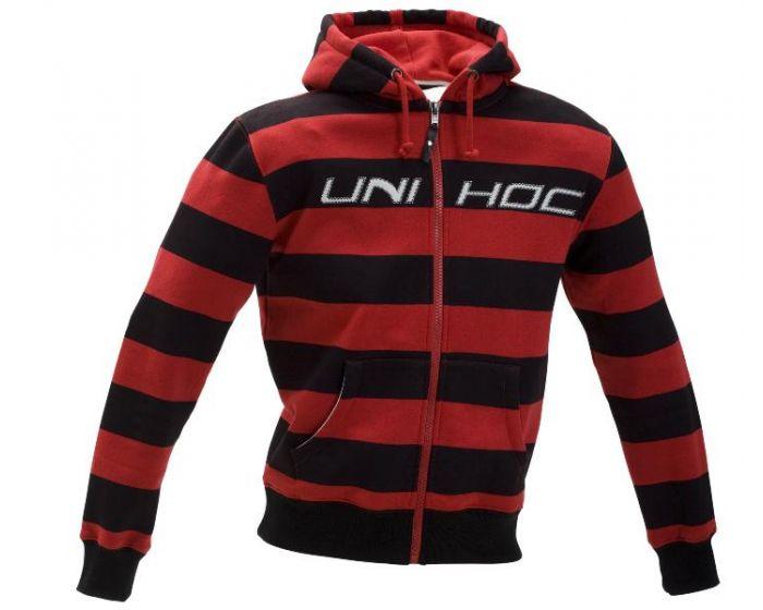 Unihoc Hood Zip Johnny schwarz/rot