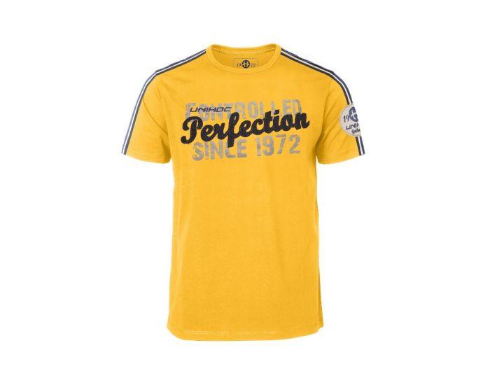 Unihoc T-shirt Control yellow  - unihockeycenter.ch