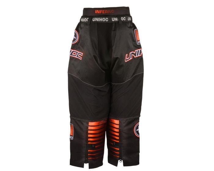 Unihoc INFERNO Goaliehosen schwarz - orange