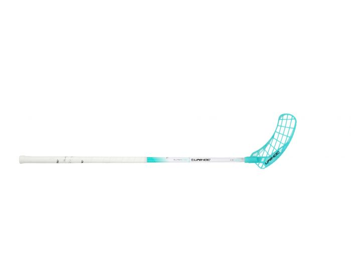 UNIHOC EPIC SUPERSKIN MID 29 weiss/türkis 21/22 - unihockeycenter.ch
