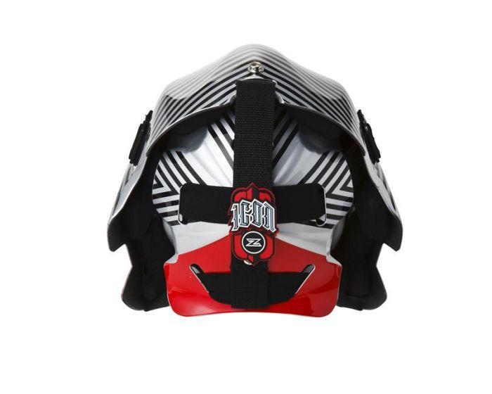 Icon Maske 2.1 Silver/rot Rückseite