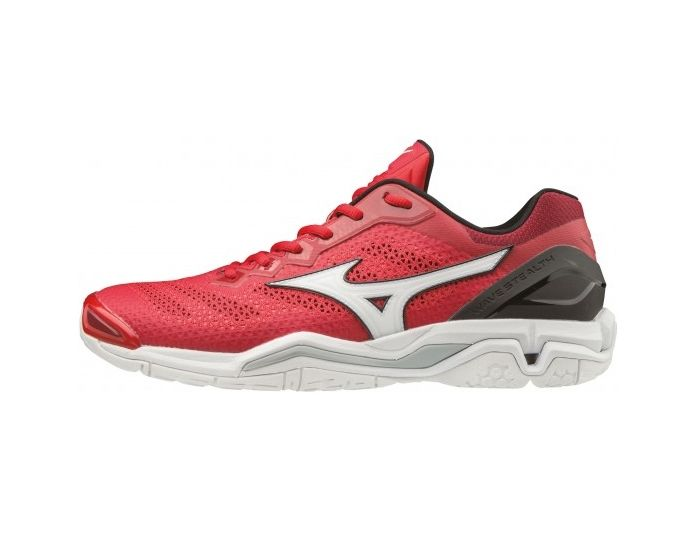 Mizuno Wave Stealth V weiss/rot