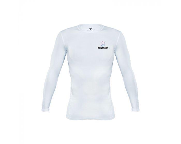 Blindsave Compression Shirt Longsleeve vorne weiss