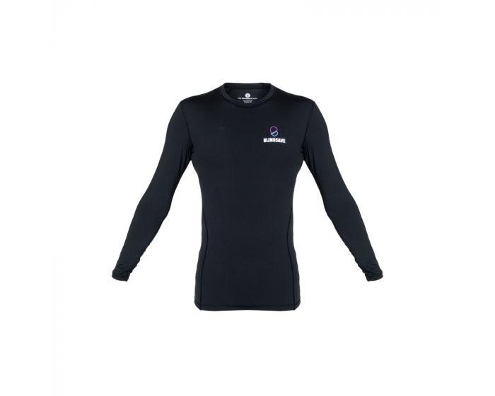 Blindsave Compression Shirt Longsleeve vorne schwarz