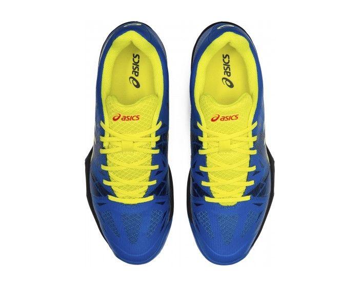 Asics GEL-FASTBALL 3 blau gelb oben