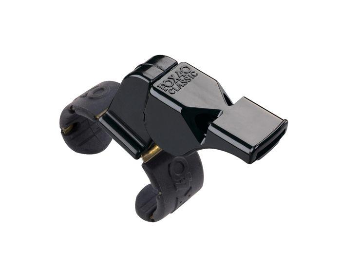 Unihockey Schiedrichterpfeiffe schwarz Fingerbügel