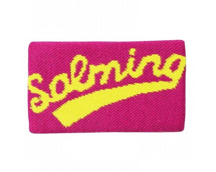 salming schweissband lang pink gelb