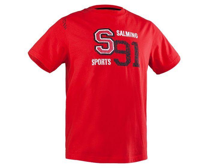 Salming Carlton Tee, red - unihockeycenter.ch