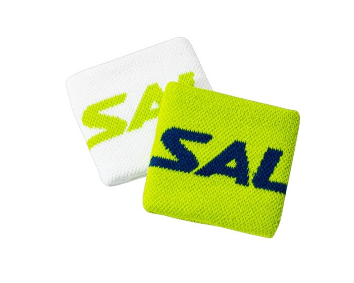 Salming Wristband Short 2-Pack weiss/grün