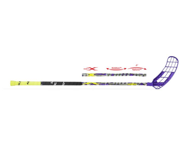 Salming Q1 X-Shaft KickZone TipCurve 3° Junior 30 14/15