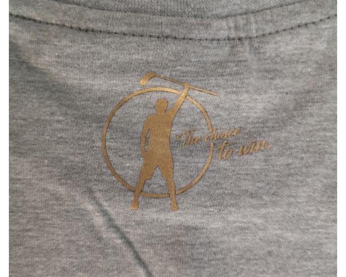Unihockeycenter.ch T-Shirt grau-gold
