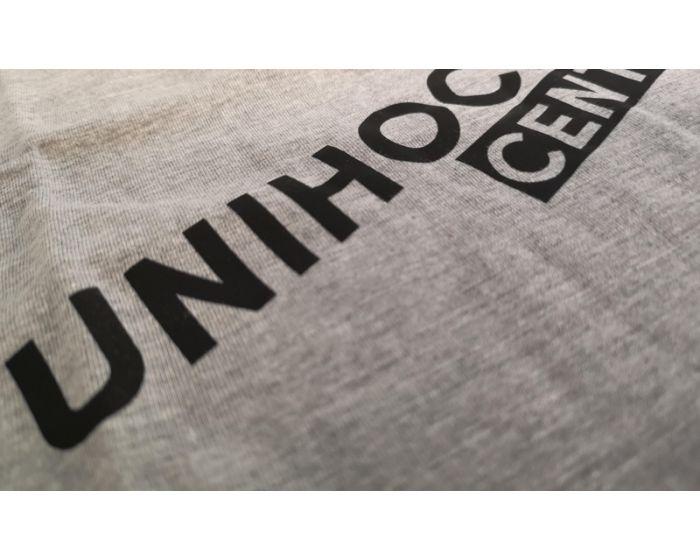 Unihockeycenter.ch T-Shirt grau-schwarz