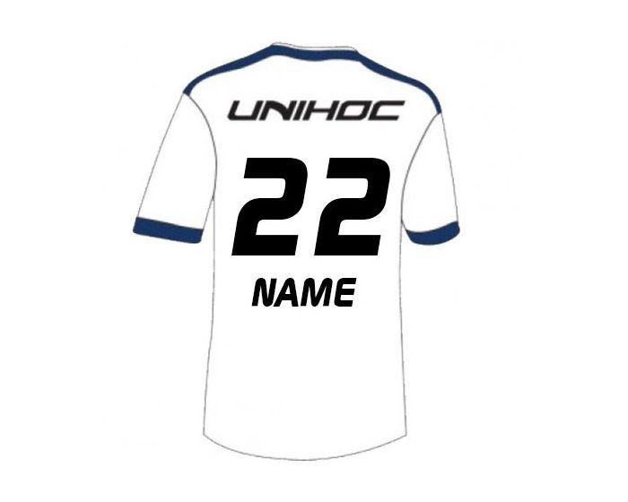 Unihoc Fan Shirt Finnland Unihockey WM 14 hinten mit Druck