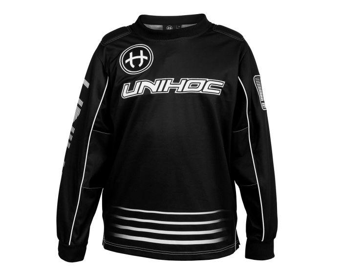 Unihoc Inferno Goaliepullover schwarz-weiss
