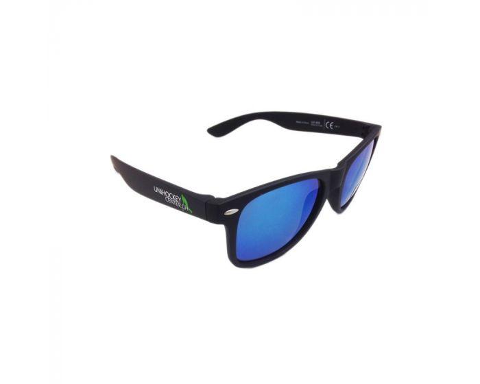 Unihockeycenter.ch Sonnenbrille blau verspiegelt