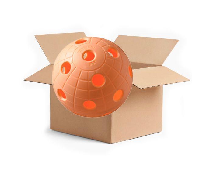 Unihoc Ball Cr8er (offizieller IFF- Unihockeyball) 200er box peach - unihockeycenter.ch